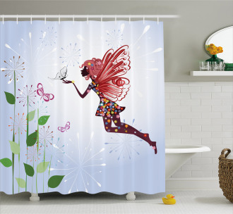 Butterfly Wing Fairy Shower Curtain