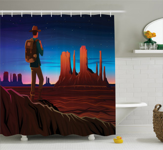Monument Alley Shower Curtain