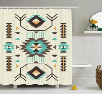 Ethnic Aztec Art Shower Curtain