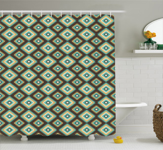 Native Old Pattern Shower Curtain