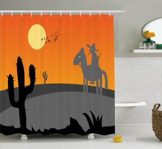 Hot Mexico Desert Shower Curtain