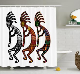 Deity Figure Art Shower Curtain