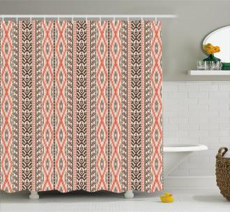 Native Art Borders Shower Curtain