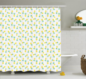 Exotic Fruits Pattern Shower Curtain
