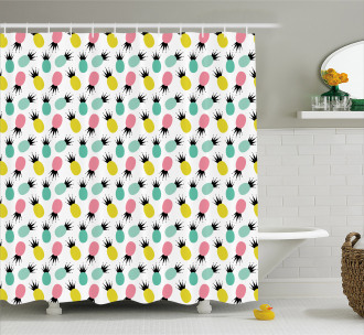 Composition of Fruit Shower Curtain