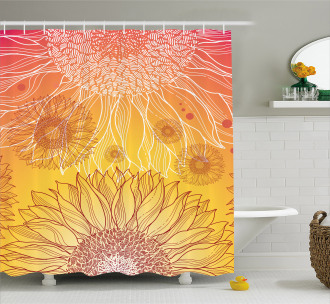 Sunflower Plants Shower Curtain