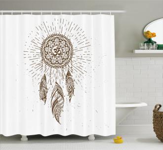 Dreamcatcher Mandala Art Shower Curtain