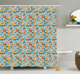 Spring Growth Theme Shower Curtain
