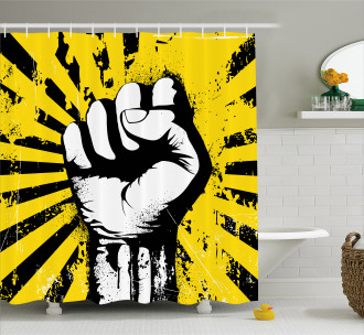 Clenched Fist Shower Curtain
