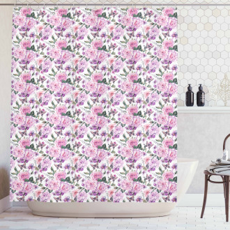 Swallowtails and Roses Shower Curtain
