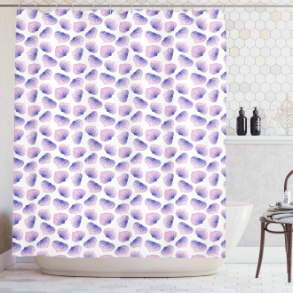 Blended Watercolor Petal Shower Curtain