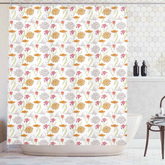 Spring Themed Foliage Shower Curtain