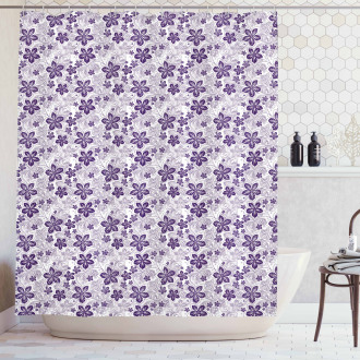 Stylized Petals Curves Shower Curtain