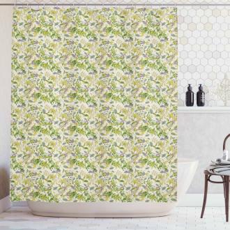 Pastel Shade Nature Shower Curtain