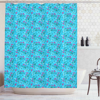 Wavy Stems and Branches Shower Curtain