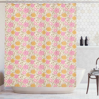 Geometric Lines Curves Shower Curtain