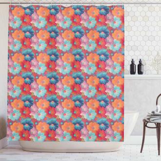 Overlapped Flower Petals Shower Curtain