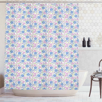 Spring Vintage Floral Shower Curtain