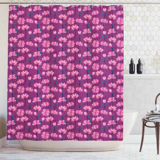 Abstract Poppy Petals Shower Curtain
