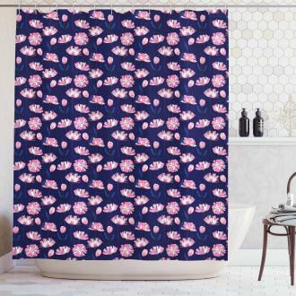 Garden Art Pink Poppies Shower Curtain