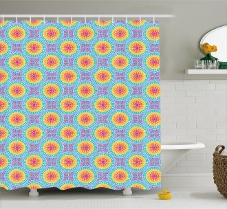 Rainbow Color Circles Shower Curtain