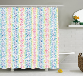 Color Transition Dots Shower Curtain