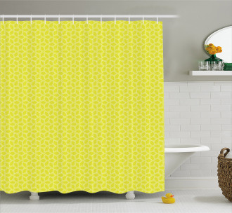Abstract Juicy Lemons Shower Curtain