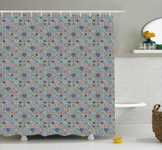 Patchwork Mosaic Tiles Shower Curtain