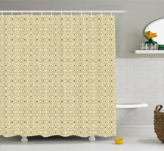 Rhombus-Like Pattern Shower Curtain