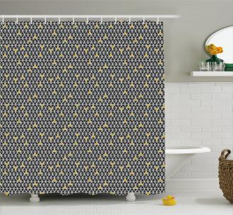 Simplistic Rhombus Shower Curtain