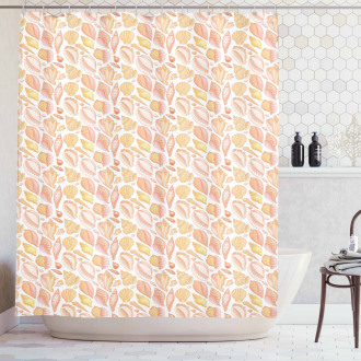 Coffee Bean Shell Icons Shower Curtain