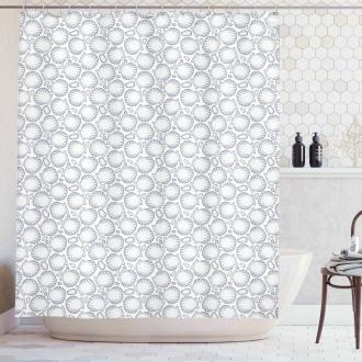 Pointilist Scallops Shower Curtain