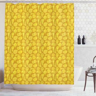 Stylized Ornamentals Shower Curtain