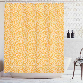 Moon Snails and Bubbles Shower Curtain