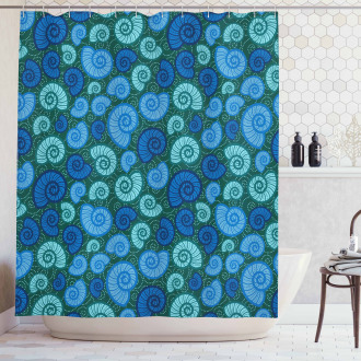 Periwinkle and Vortex Shower Curtain