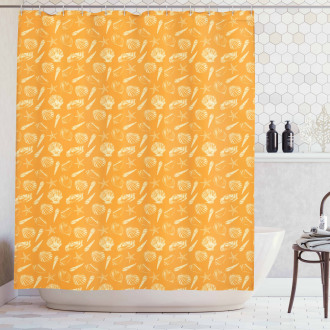 Etching Sketch Scallops Shower Curtain