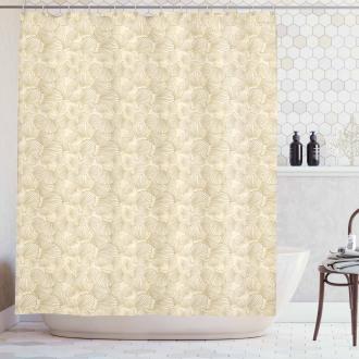 Interlacing Clams Motif Shower Curtain