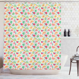 Pre-School Theme Turtles Shower Curtain