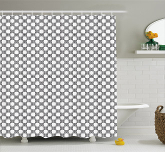 Curved Lines Mosaic Shower Curtain