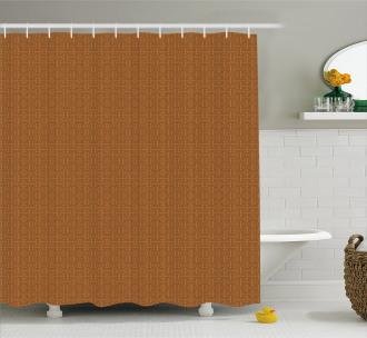 Tribal Indonesian Grid Shower Curtain