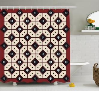 Javanese Batik Pattern Shower Curtain