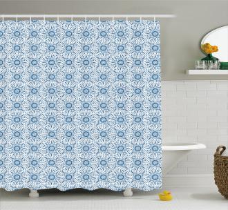 Dutch Floral Tile Shower Curtain