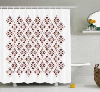 Indonesian Native Tile Shower Curtain
