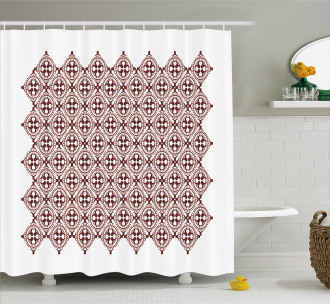 Javanese Vintage Batik Shower Curtain