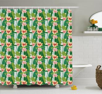 Exotic Hawaiian Botanic Shower Curtain