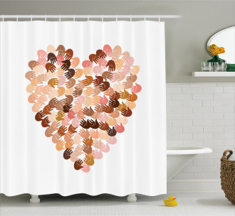 Hand Prints for Unity Shower Curtain