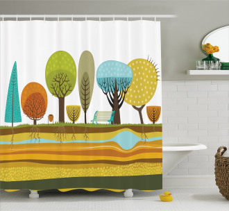 Park Elements of the City Shower Curtain