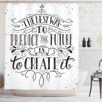 Create Future Shower Curtain