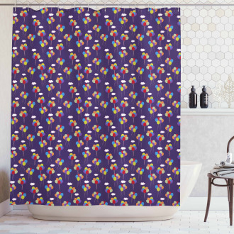 Festival and Birthday Shower Curtain