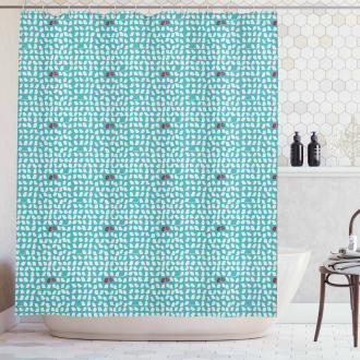 Snippet Connivent Sparrow Shower Curtain